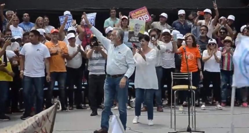 Alberto Rodríguez Saá lanzó su candidatura para la reelección en 2019