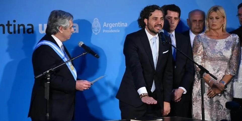 Juraron los ministros de Alberto en el Museo del Bicentenario