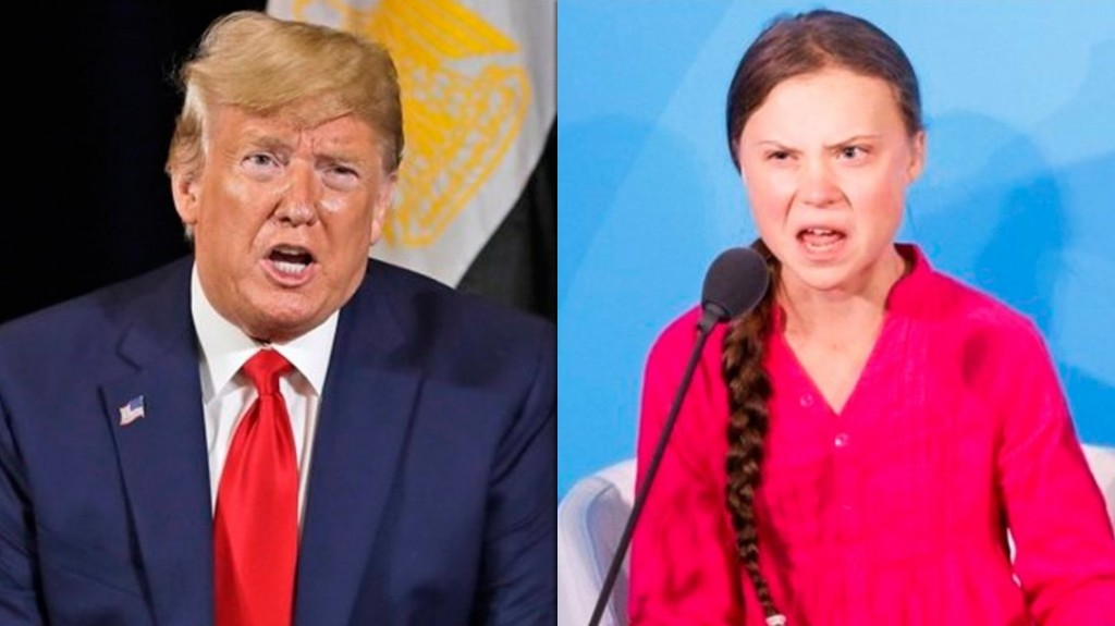 Trump le recomendó a Greta Thunberg que vaya al cine y que