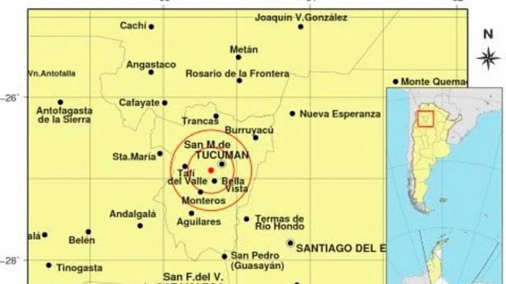 Un sismo de 4,7 grados sacudió a Tucumán