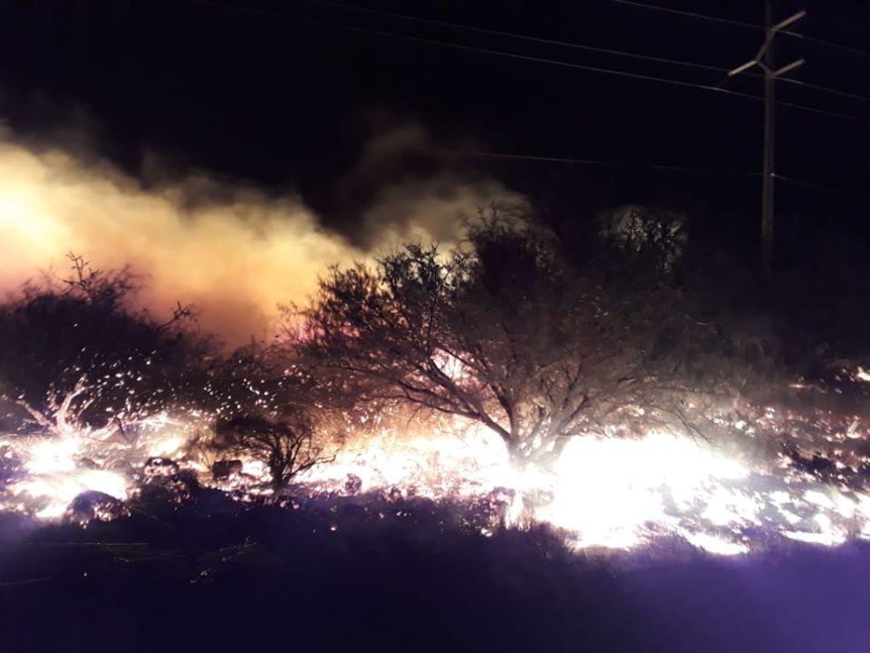 Controlaron un incendio en La Punta