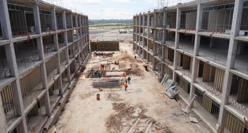 El Hospital Central continúa su construcción con un sistema de vanguardia