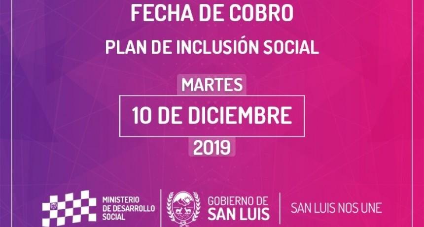 El martes 10 de diciembre cobran los beneficiarios del Plan de Inclusión Social