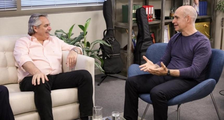 Alberto Fernández se reunió por primera vez con Horacio Rodríguez Larreta