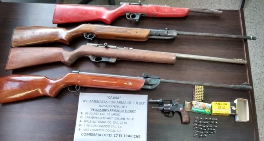 El Trapiche: secuestraron armas de fuego en un allanamiento