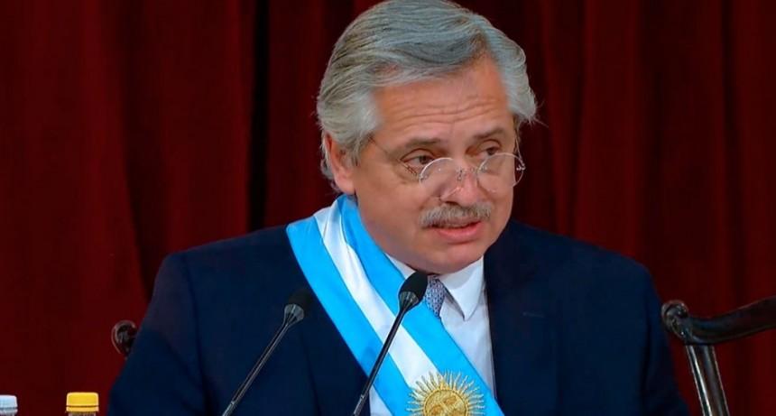 Alberto Fernández, ante la Asamblea Legislativa:
