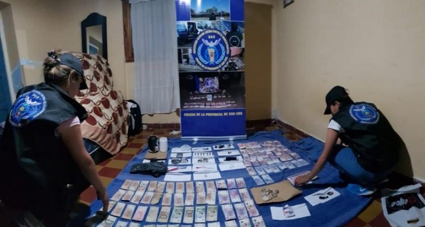 San Luis: Desarticularon un centro de comercialización de estupefacientes