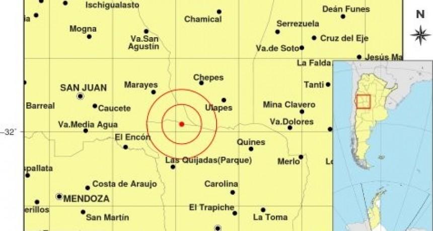 Se registró un temblor en el límite con San Juan