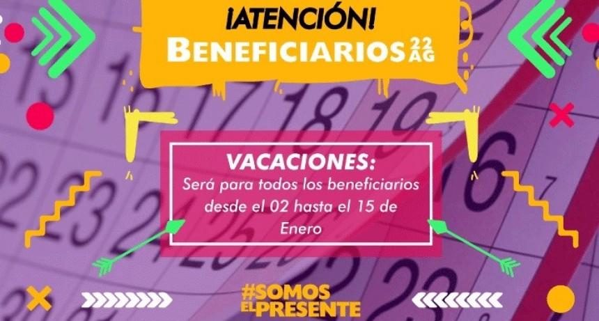 Dieron a conocer el cronograma de vacaciones para los beneficiarios de las becas 22 AG