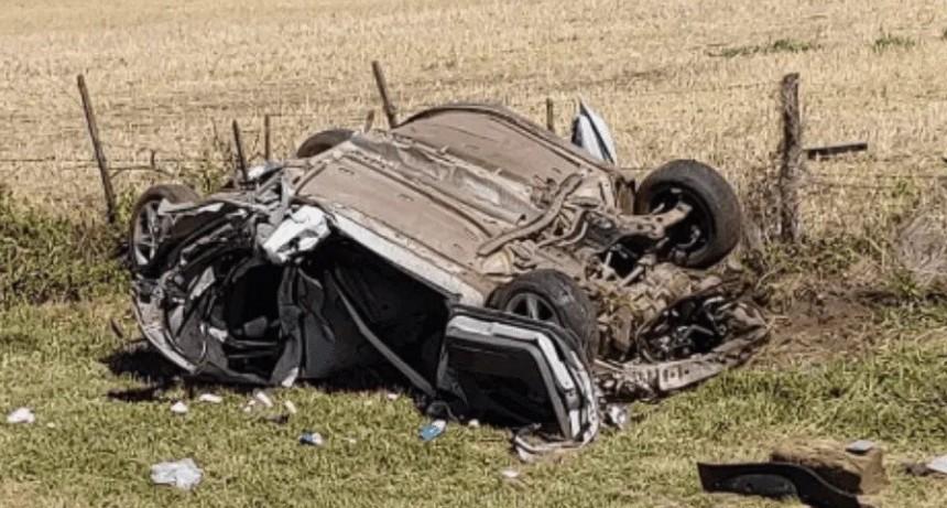 Tres muertos en violento vuelco en la localidad santafesina de Elortondo