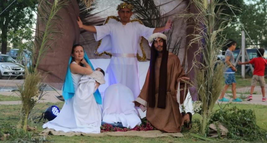 Vecinos del barrio Eva Perón participaron de la tradicional representación del pesebre