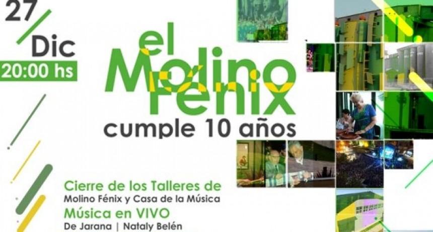 """El Complejo """"Molino Fénix"""" cumple 10 años y lo festeja a lo grande"""