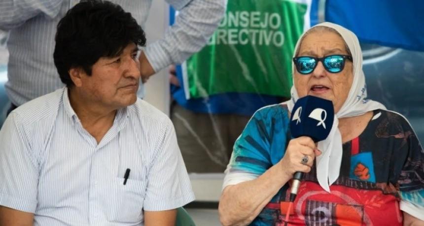 """Hebe de Bonafini, junto a Evo Morales: """"Los traidores la van a pagar algún día, sabemos quiénes son"""""""