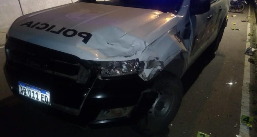 Accidente fatal: murió un motociclista tras chocar contra un móvil de la policial en San Francisco