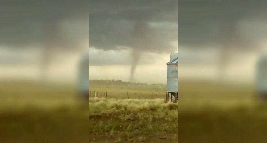 Un tornado sorprendió a todos a pocos kilómetros de Bahía Blanca