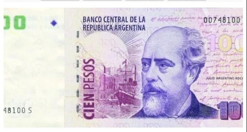 Información falsa: El billete de $100 con la cara de Roca seguirá circulando