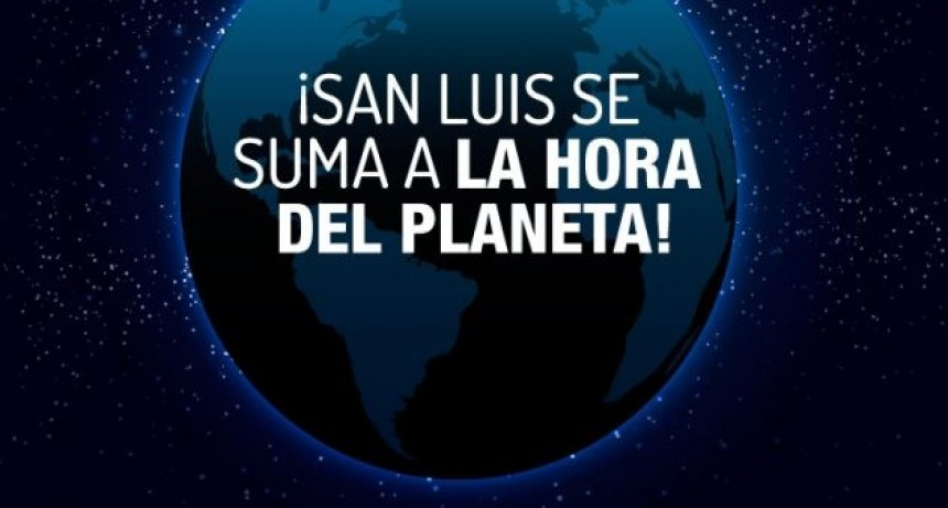 San Luis se suma a la hora del planeta