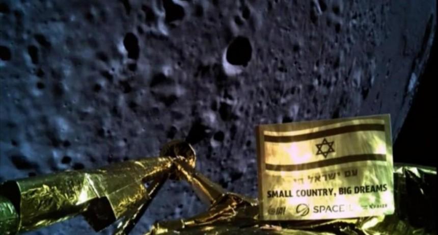 Una sonda israelí se estrelló antes de llegar a la Luna: las únicas imágenes que pudo sacar