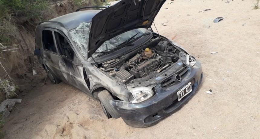 San Luis: un auto volcó en la Ruta 147