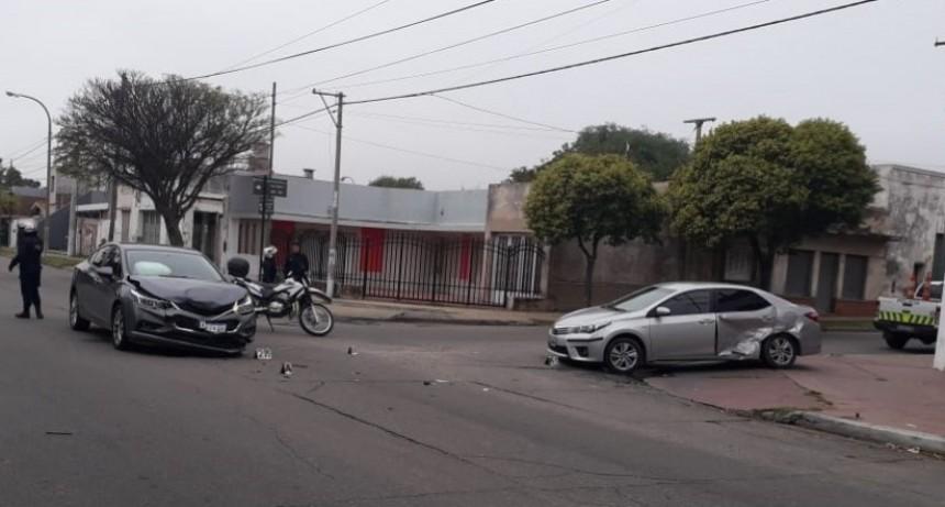 San Luis: se produjó un accidente de transito en pleno centro de la ciudad