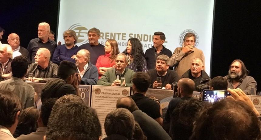 El Frente Sindical anunció una marcha a Plaza de Mayo en el paro del 30 de abril