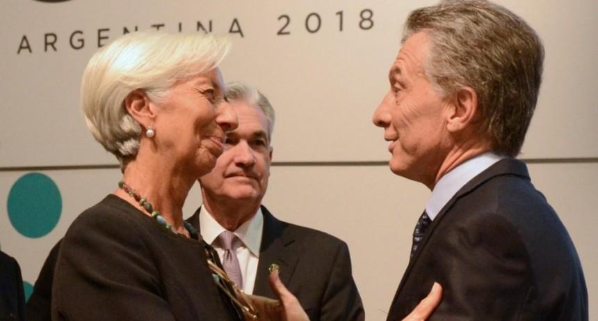 El FMI apoya a Macri y lo habilita a usar US$1250 millones por semana