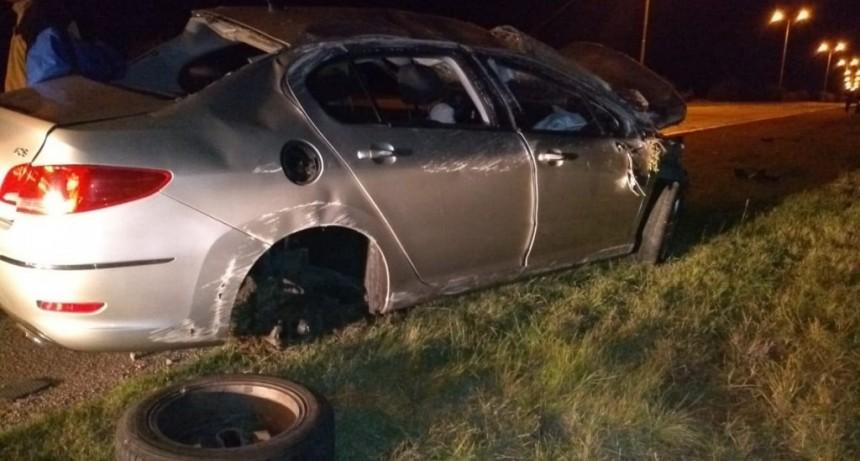 San Luis: conductor se quedó dormido al volante y volcó