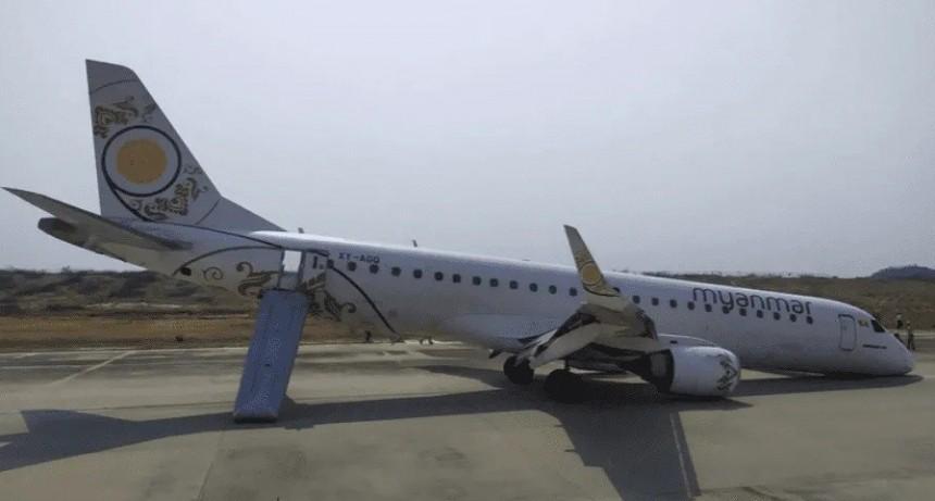 Impactante video: avión aterrizó de un panzazo y ocurrió un milagro