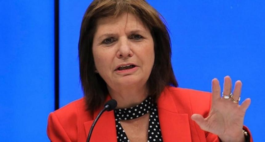 Paro General: Patricia Bullrich no descartó el uso de la fuerza de seguridad para desactivar los cortes