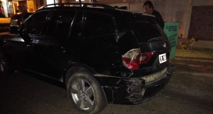San Luis: un auto giró en U y choco con una moto