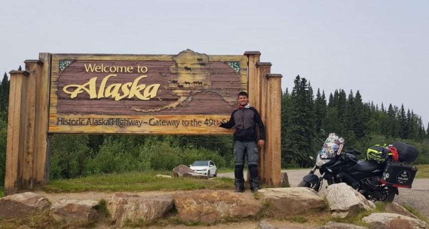 Un puntano viajó de San Luis a Alaska en moto