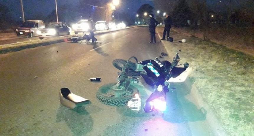 Villa Mercedes: chocaron dos policías que escoltaban el micro de gimnasia