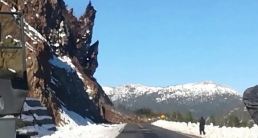 VIDEO: El impresionante desprendimiento de rocas sobre la ruta 40
