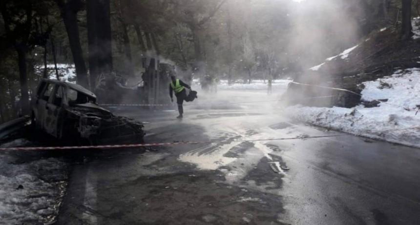 Tres heridos siguen grave tras el accidente múltiple en Villa La Angostura