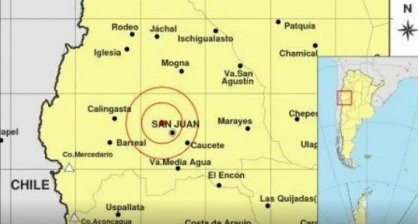 Fuerte sismo sacudió San Juan y Mendoza