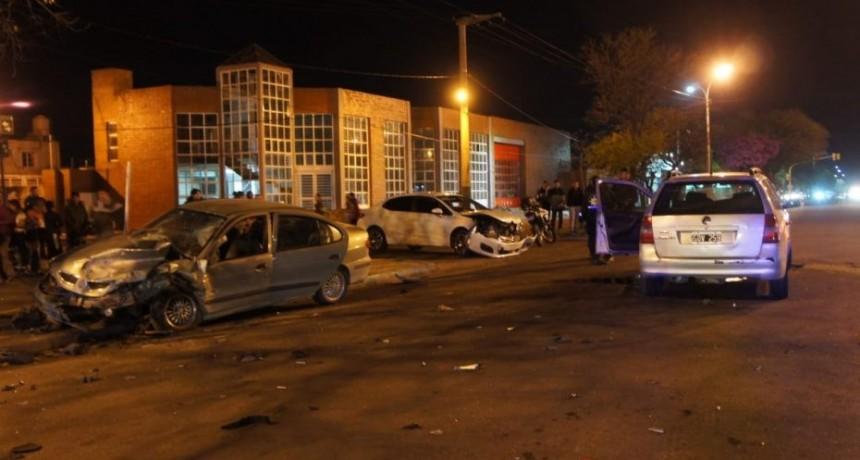 San Luis: triple choque en la avenida Lafinur