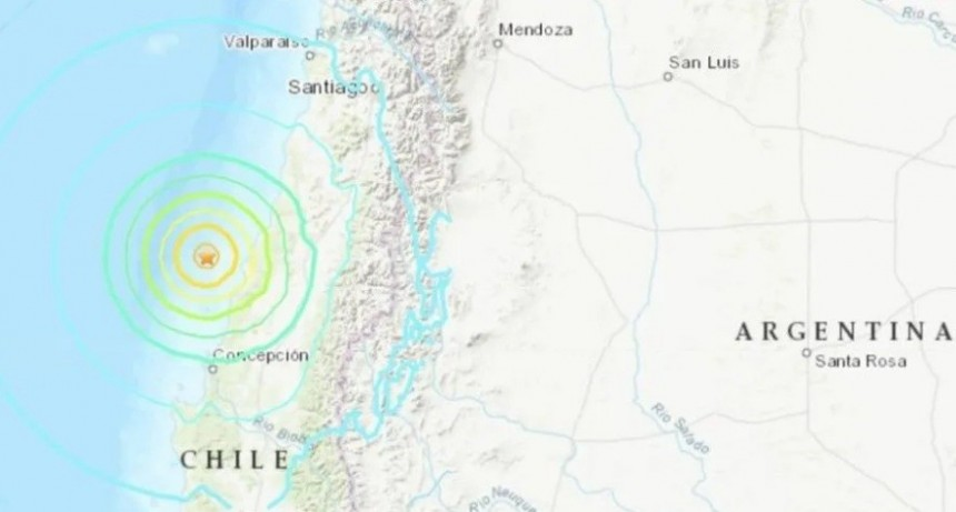 Un sismo de 6,6 grados sacudió la zona centro y sur de Chile