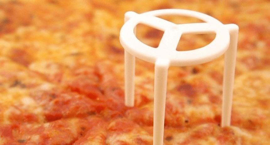 La pizza ya viene sin -el cosito- por la crisis