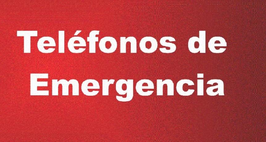 En caso de emergencia, usted puede llamar al 103